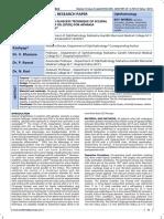 Sutureless Glueless Technique of Scleral Fixation of Iol (Sfiol) for Aphakia Correction