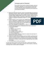 Consejos Para el Examen de Admisión.docx