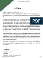 Hermenêutica – Wikipédia, A Enciclopédia Livre