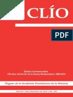 Revista Clío, Año 84 • Julio-diciembre de 2014 • No. 190
