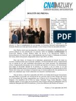 Boletin de Prensa 9/2018