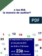 Cambian Las Reglas Llegan Las NIA (2013)