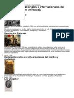 Antecedentes Del Derecho de Trabajo Nacionales e Internacionales