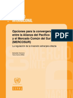 Opciones para la convergencia entre la Alianza del Pacífico y el Mercado Común del Sur (MERCOSUR) 2017
