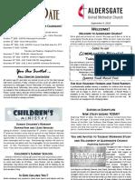 Bulletin Supplement September 9 2018