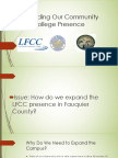 Expanding Fauquier's Community College Presence Campus