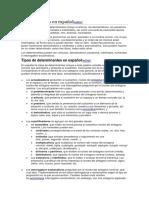 Determinantes en Español