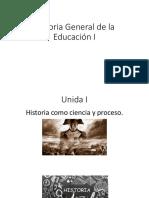 1.-La Historia Como Ciencia y Proceso
