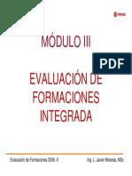 Módulo III Evaluación de Formaciones Integrada