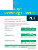 Outokumpu Machining Guidelines LDX2404