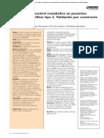 Estilo de vida y control metabólico en pacientes con diabetes mellitus tipo 2. Validación por constructo del IMEVID