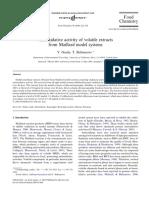 C. Volatiles Con Actividad Antioxidante