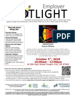 Employer Spotlights October 2018