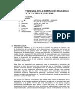 Plan de Contingencia Pajarillo 2016