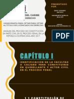 Análisis Del Proceso de Constitución en Parte Civil en El Proceso Penal en La República Dominicana, Año 2017
