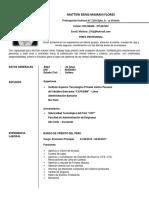 CV de Mattew Denis Mamani Flores
