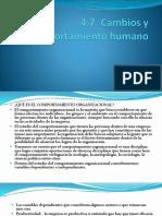 4.7 Cambio y Comportamiento Humano