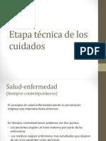 Etapa Técnica de Los Cuidados Etimologia