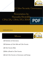 Cyber Security Governance