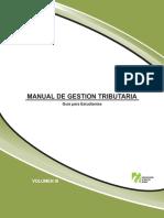 Manual de Gestión Tributaria, Guía Para Estudiante Vol. 3