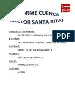 Informe Cuenca Santa Rita