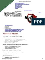 Admisión Al IPT 2018 _ Facultad de Ingeniería
