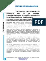 El Tribunal de Cuentas da luz verde a investigar la gestión económica en Ayto. Maracena
