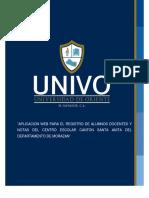 Aplicación Web Para El Registro de Alumnos Docentes y Notas Del Centro Escolar Canton Santa Anita Del Departamento de Morazan