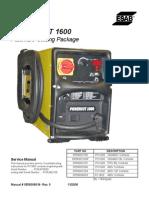 Power Cut 1600 Manual de servicio