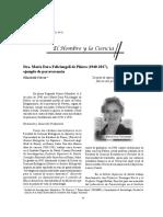 Ferrer 2017 Dra. María Dora Feliciangeli de Piñero (1940-2017), Ejemplo de Perseverancia