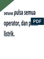 Sedia Pulsa Semua Operator