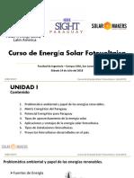 Curso Energia Solar Fotovoltaica - UNIDAD I