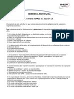Actividad a Cargo Del Docente U3 Ing Economica