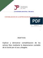 Semana 8 Contabilizacion de La Depreciacion Del Activo Fijo