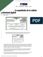 La SEP Comienza La Expedición de La Céd..