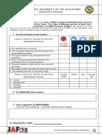 Sample Evaluation Form 1-8 - Alona Villareal