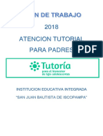 Plan Tutoria 2018