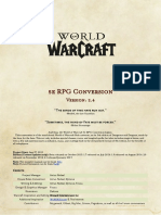 Warcraft Rules Conversion