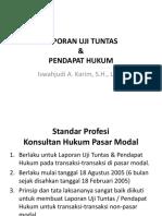 LAPORAN UJI TUNTAS & PENDAPAT HUKUM.pptx