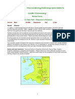 Offas Dyke walking itinerary 2014