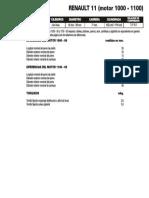 RENAULT 11  (motor 1000-1100)