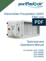 Technical and Operations Manual English ELectrostatic Prespirator
