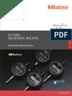 Mitutoyo - Czujniki zegarowe elektroniczne ID-S Seria - 2248 - 2017 EN