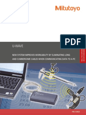 Plain Type Straight Water-Proof Model Mitutoyo 02AZD790G U-Wave Connecting Cable