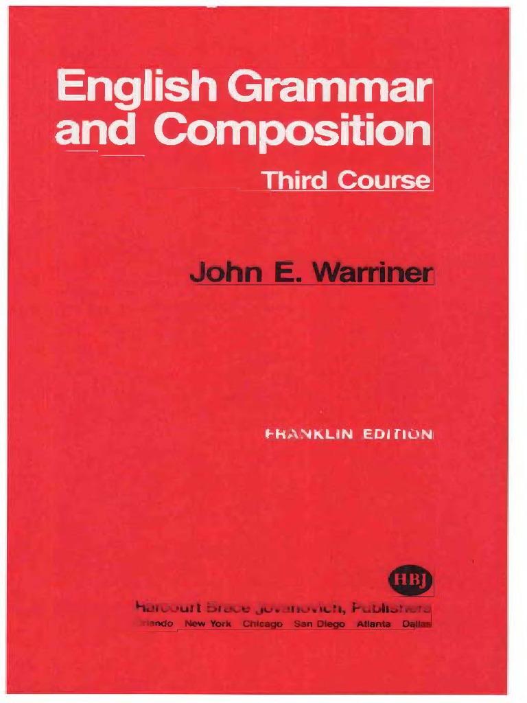 0f8c2e52087f0 Warriner's English Grammar & Composition - Thirrd Course.pdf ...