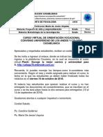 Curso Orientación Vocacional Alianza Universiad de Los Andes y Col Casablanca