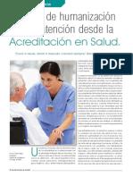 Enfoque de Humanización de La Atención Desde La Acreditación en Salud