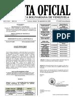 Gaceta Oficial Extraordinaria Nro. 6.405 de fecha 7 de septiembre de 2018