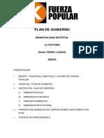 Plan de Gobierno Fuerza Popular La Victoria