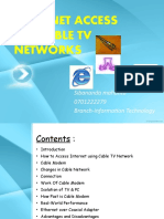 Internet Access via Cable Tv Networks